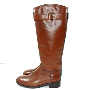 Tory Burch Sienna Riding Boots Tall Brown Leather